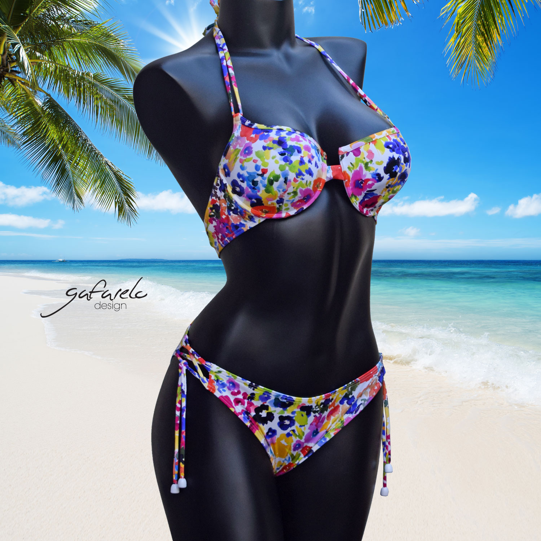 Bikini Copas Performado Acuarela braga cruce